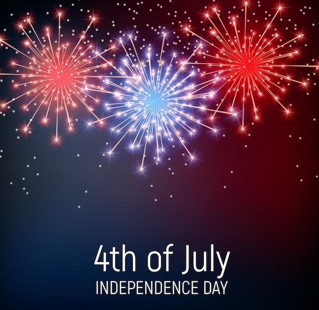 Vierde juli, de onafhankelijkheidsdag van de verenigde staten Premium Vector
