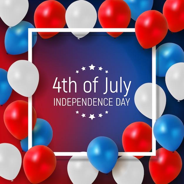 Vierde juli, de onafhankelijkheidsdag van de verenigde staten. Premium Vector