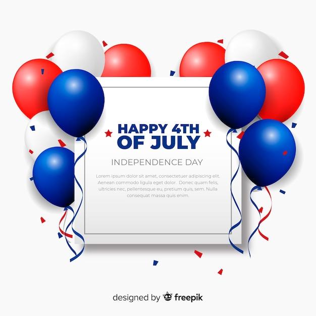 Vierde juli feestelijke achtergrond Gratis Vector