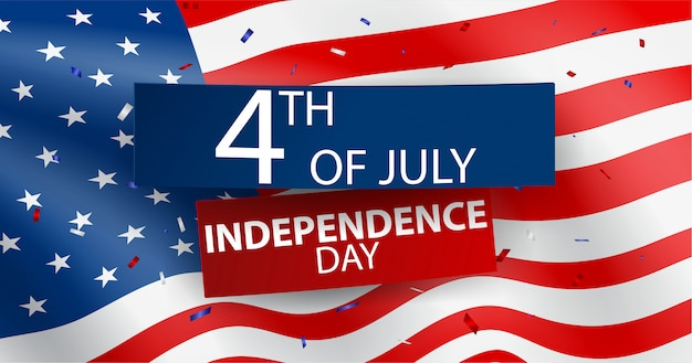 Vierde juli independence day of usa celebration Premium Vector