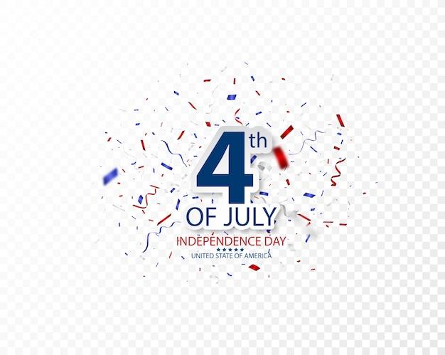 Vierde juli independence day of usa celebration Premium Vector