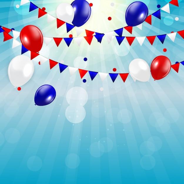 Vierde juli, onafhankelijkheidsdag van de verenigde staten Premium Vector