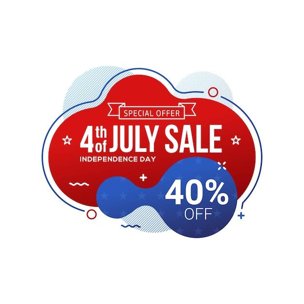 Vierde juli usa onafhankelijkheidsdag verkoop banner Premium Vector