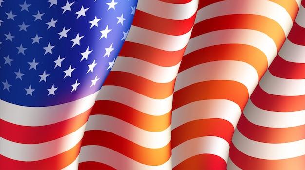 Vierde van juli independence day met amerikaanse vlag. illustratie Premium Vector