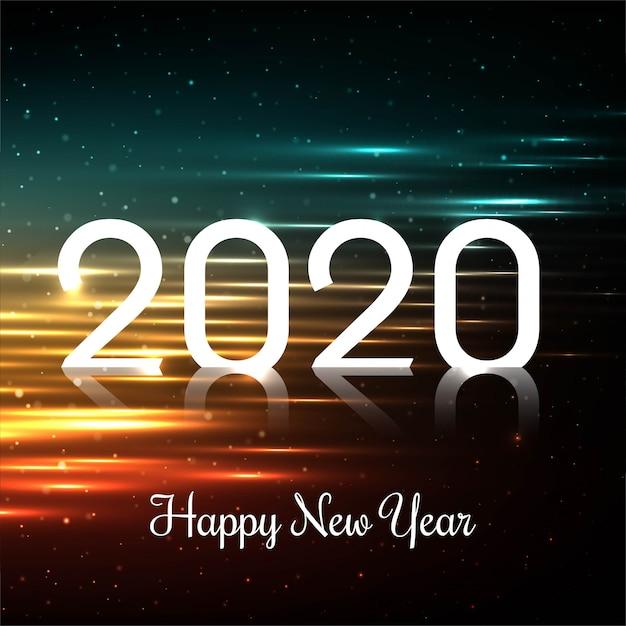 Viering kaart 2020 gelukkig nieuwjaar Gratis Vector