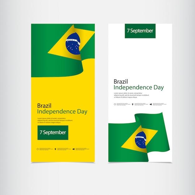 Viering van de onafhankelijkheid van brazilië dag Premium Vector