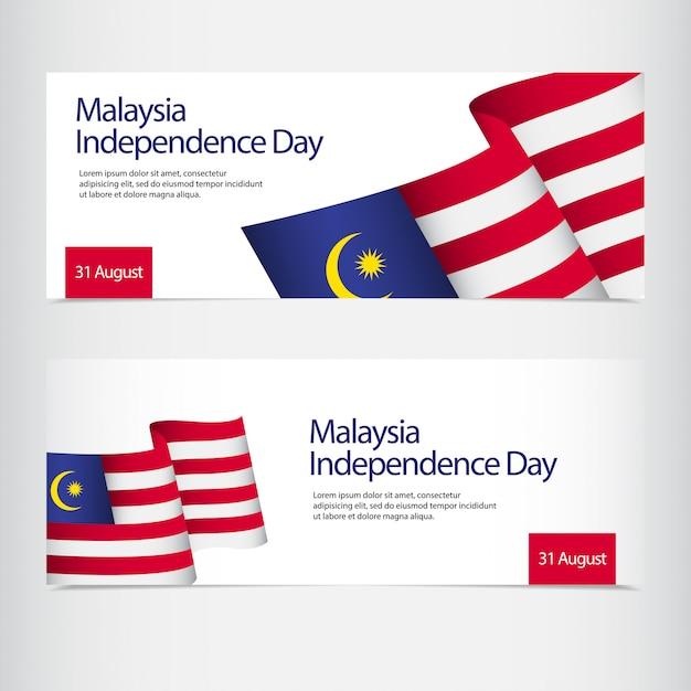 Viering van de onafhankelijkheidsdag van maleisië Premium Vector