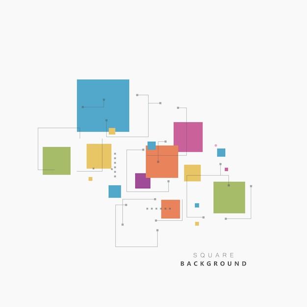 Vierkant verschillende actuele kleuren. mooi vectorontwerp Premium Vector