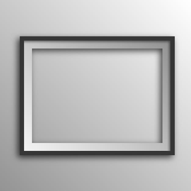 Vierkante afbeeldingsframe met schaduw. Premium Vector