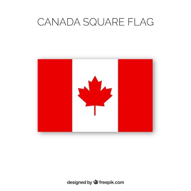 Vierkante canadese vlag achtergrond Gratis Vector