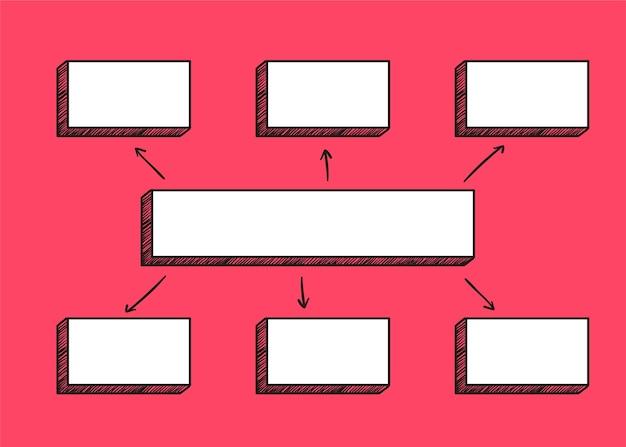 Vierkante diagramillustratie Gratis Vector
