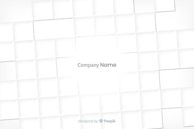 Vierkante witte vormenachtergrond in document stijl Gratis Vector