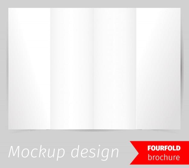Viervoudig modelontwerp van de brochure Gratis Vector