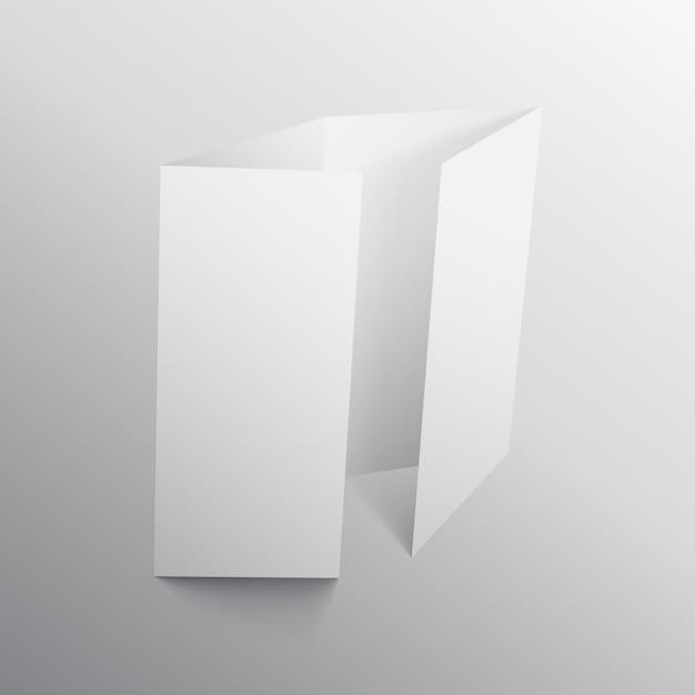 Viervoudige brochure mockup ontwerp Premium Vector