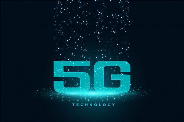 Vijfde generatie technologie concept techno achtergrond Gratis Vector