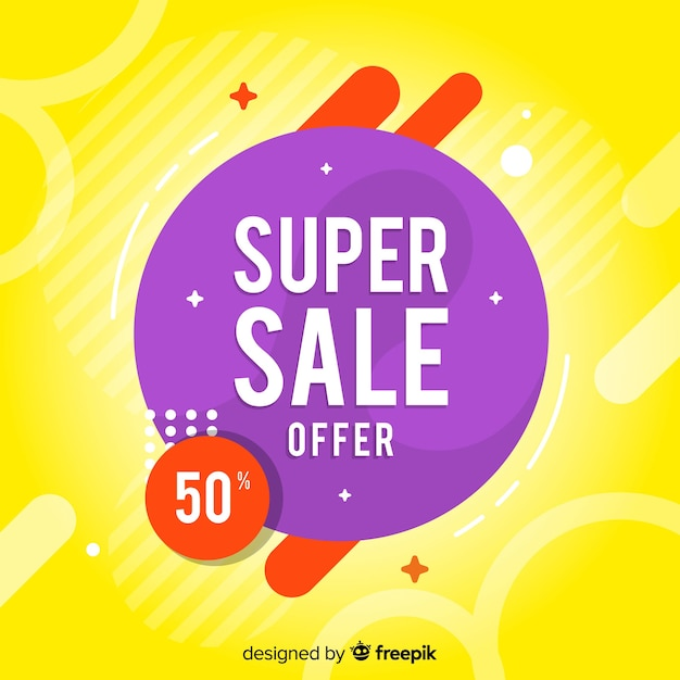 Vijftig procent korting abstracte verkoop banner Gratis Vector