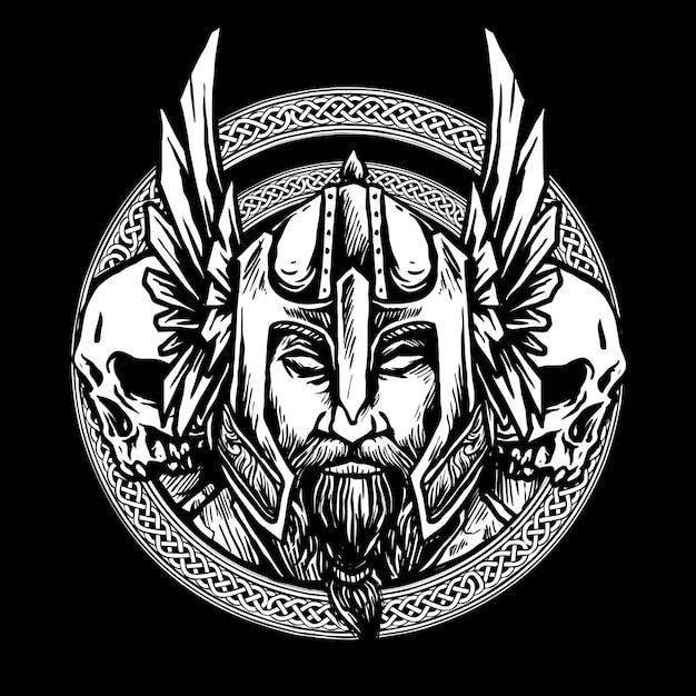 Viking noords Premium Vector