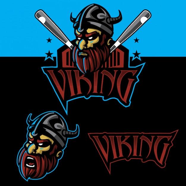 Viking sport logo set Premium Vector