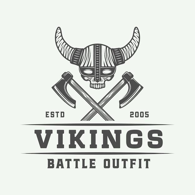 Vikings motiverend logo Premium Vector