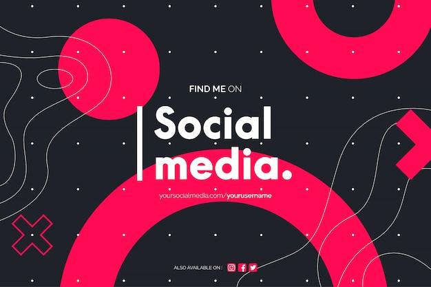 Vind mij op de achtergrond van sociale media Gratis Vector
