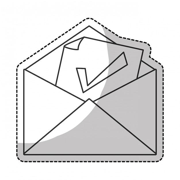 Vinkje pictogram Premium Vector