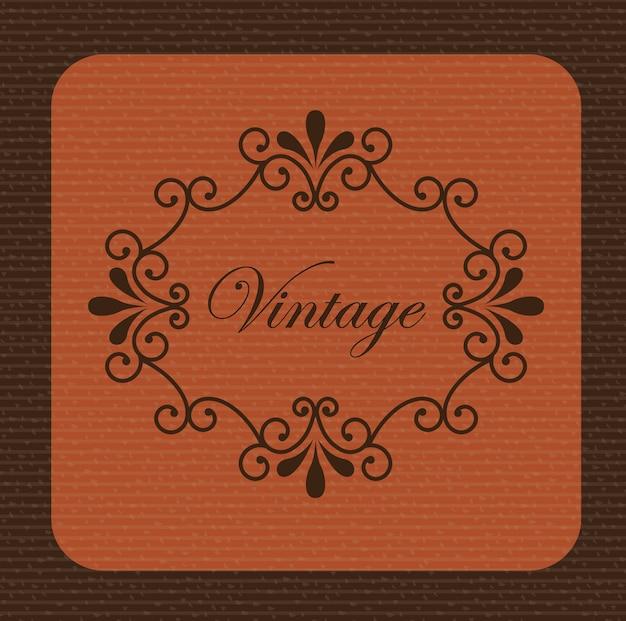 Vintage achtergrond Gratis Vector