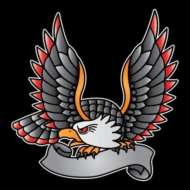 Vintage adelaar logo Premium Vector
