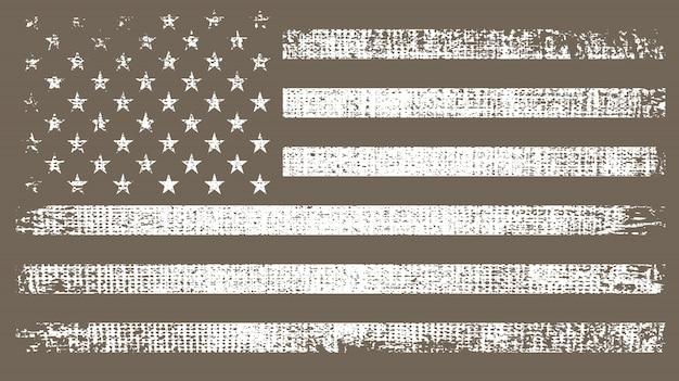 Vintage amerikaanse vlag Premium Vector