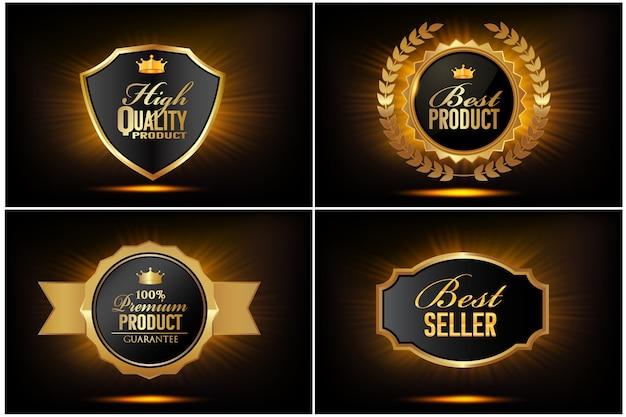 Vintage badges collectie van hoge kwaliteit Premium Vector