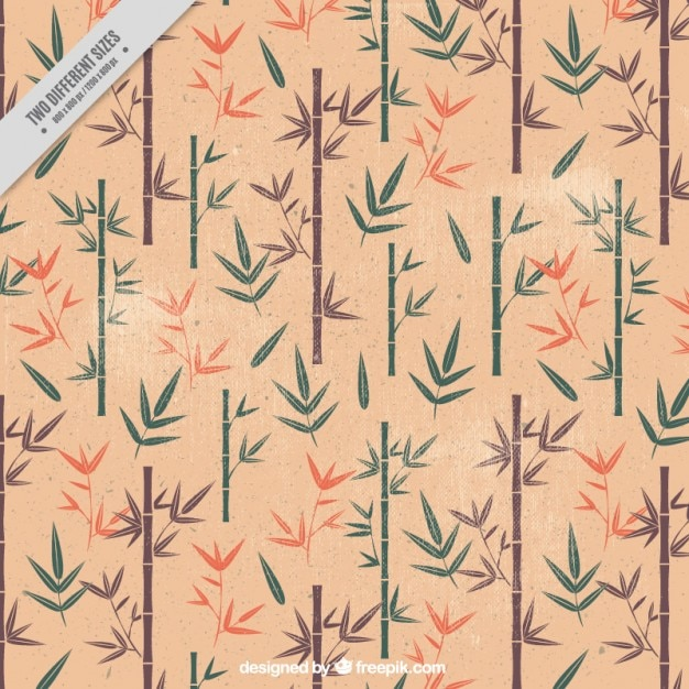 Vintage bamboe achtergrond Gratis Vector
