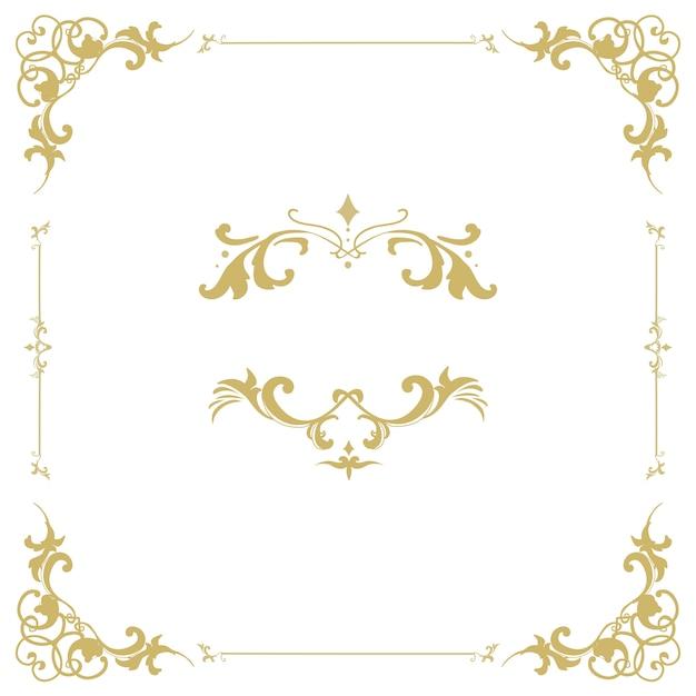 Vintage bloeien ornament frame vector Gratis Vector