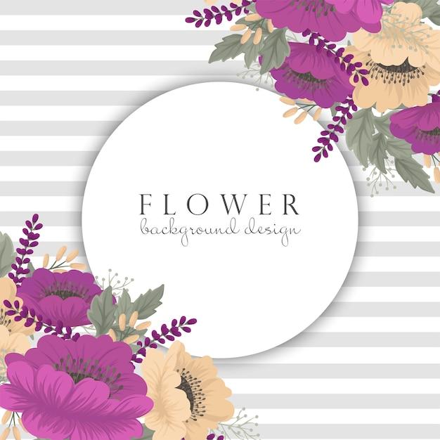 Vintage bloem bloemenframe Gratis Vector