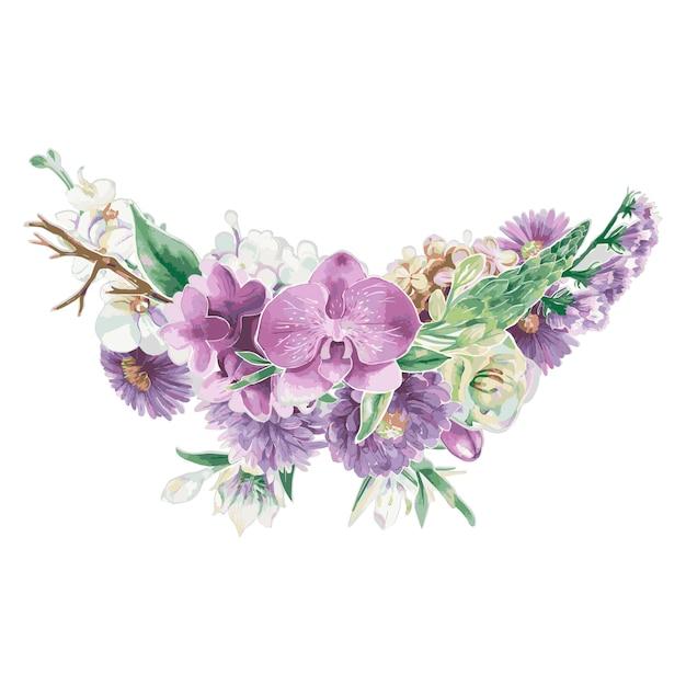 Vintage bloemenornamenten Gratis Vector