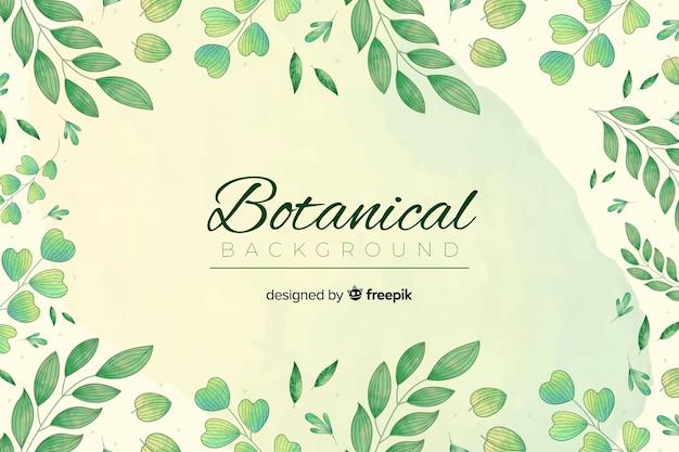 Vintage botanische bckground Gratis Vector