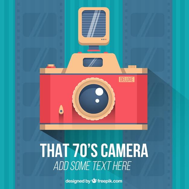 Vintage camera in plat design vector gratis download for Camera blueprint maker gratuito