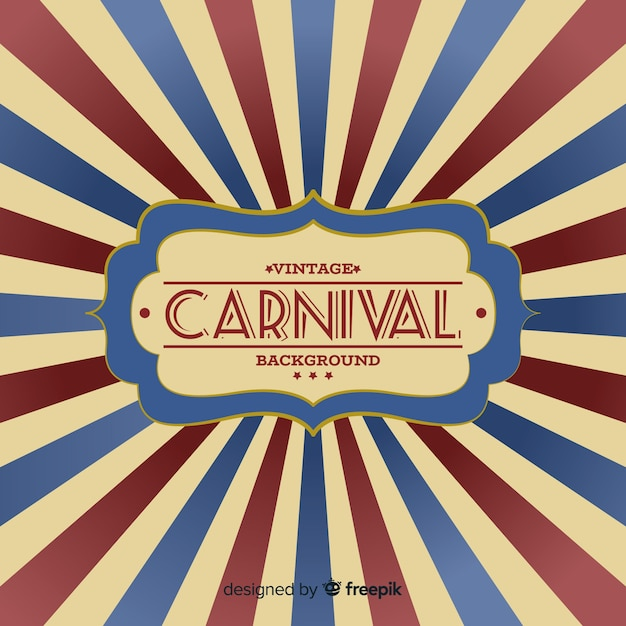 Vintage carnaval achtergrond Gratis Vector