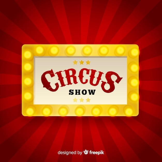 Vintage circus licht teken achtergrond Gratis Vector