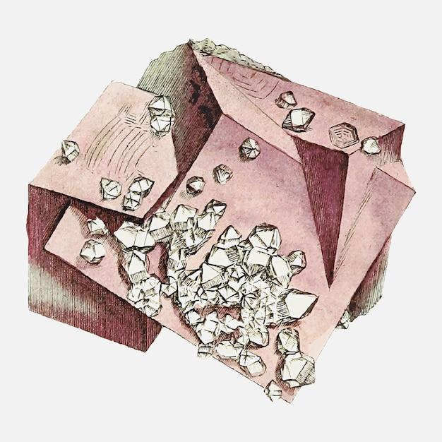 Vintage diamanten illustratie Gratis Vector
