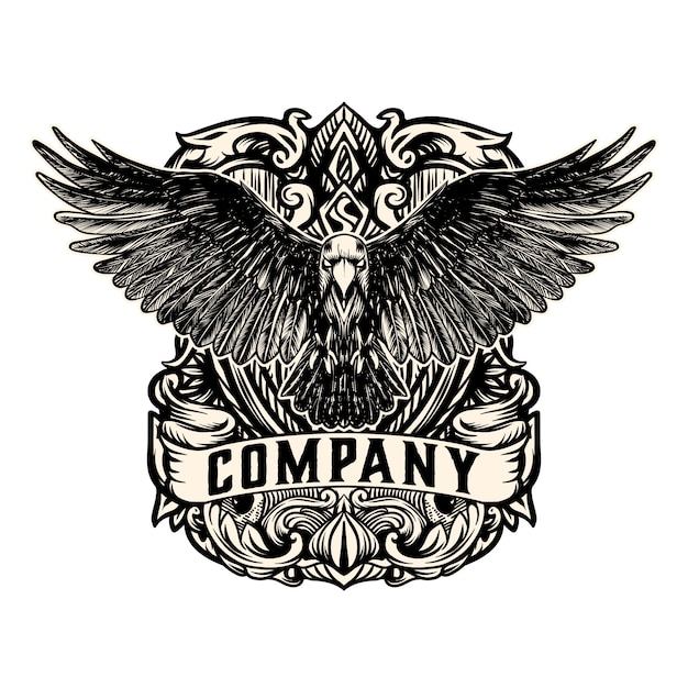 Vintage eagle logo vector Premium Vector