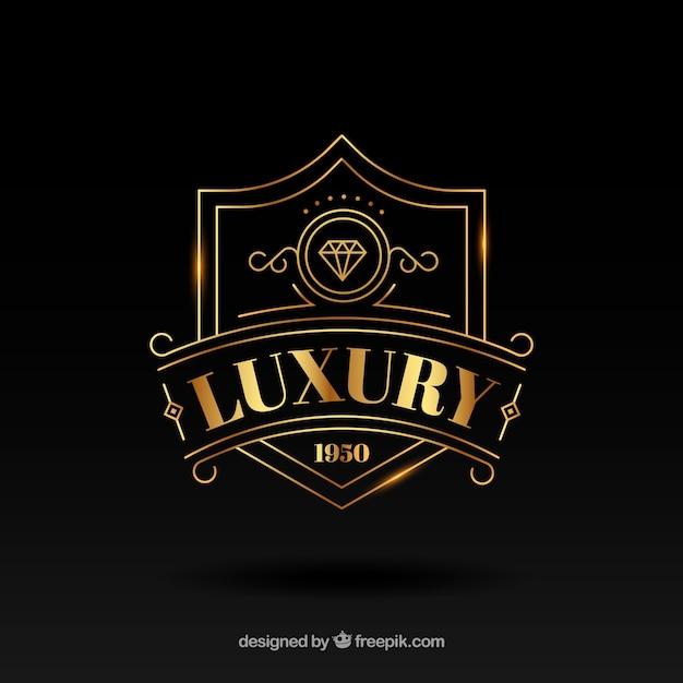 Vintage en luxe logo sjabloon Gratis Vector