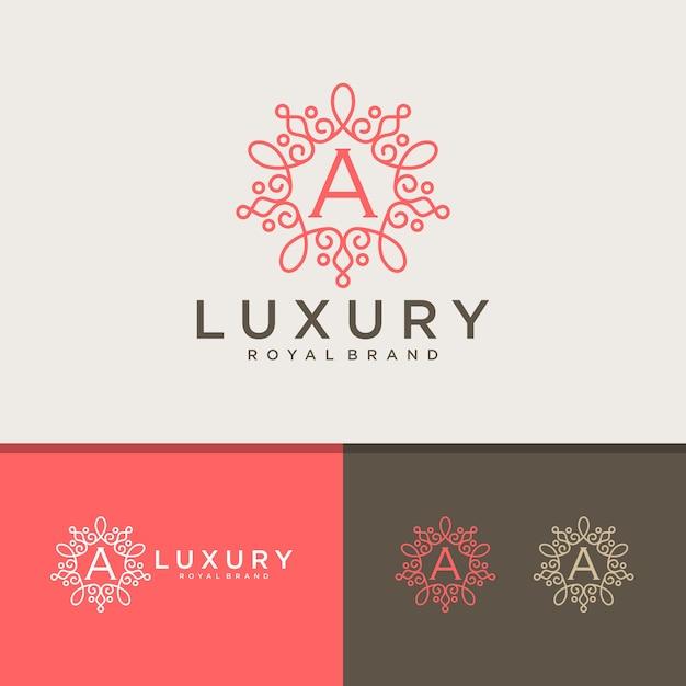 Vintage en luxe logo Premium Vector