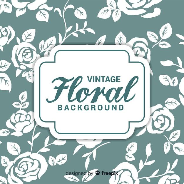 Vintage floral achtergrond Gratis Vector