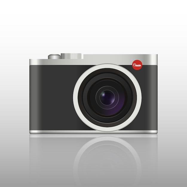 Vintage fotocamera Premium Vector