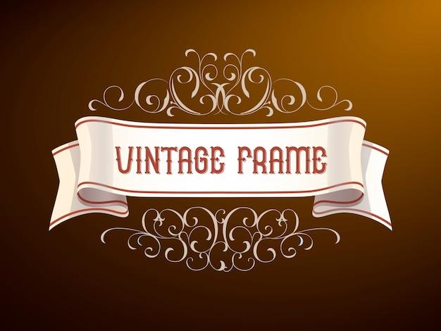 Vintage frame met hand-tekening elementen. Premium Vector