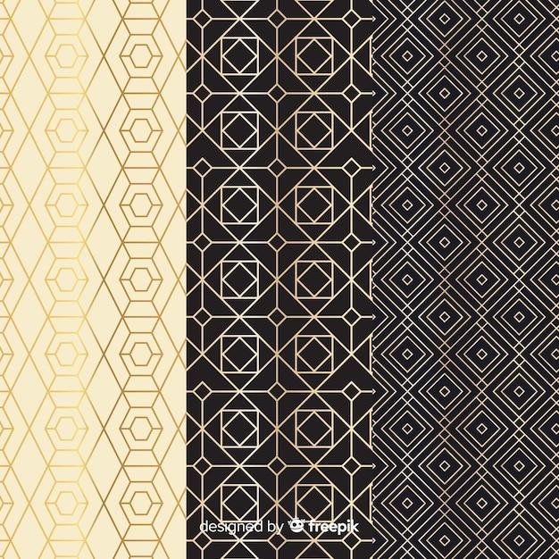 Vintage geometrische luxe collectie patroon Gratis Vector