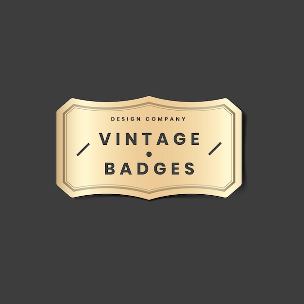 Vintage gouden logo Gratis Vector
