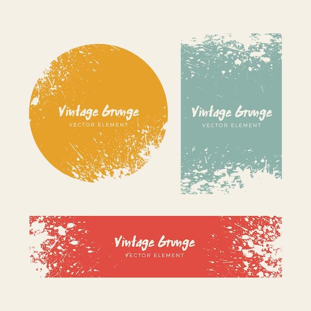 Vintage grunge verontruste achtergronden collectie Gratis Vector