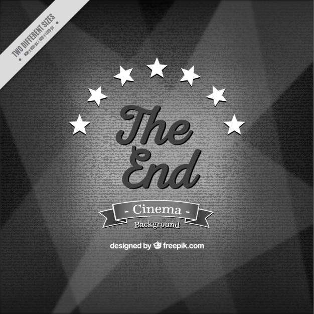 Vintage het einde film achtergrond Gratis Vector