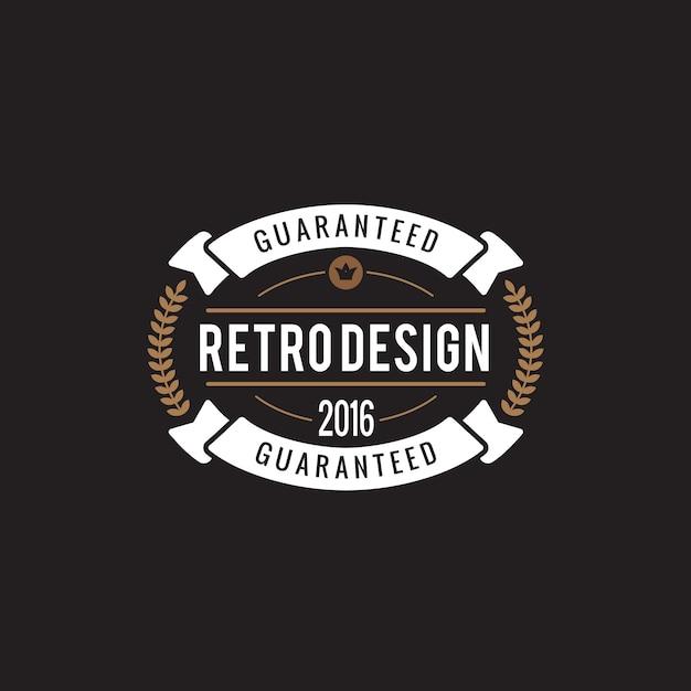 Vintage label badge-logo. Gratis Vector