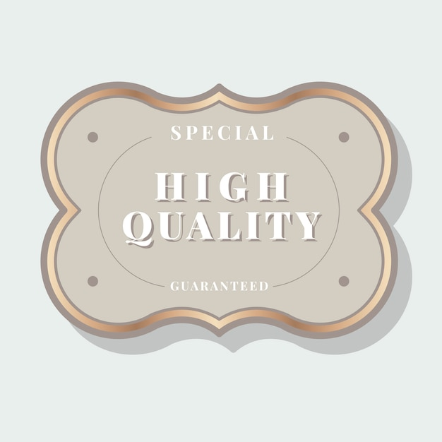 Vintage label Gratis Vector